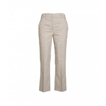 Pantalone Trombett in finitura glitter beige