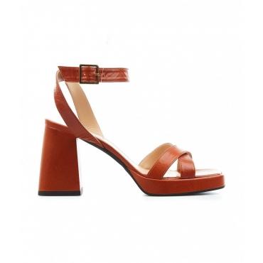Sandali con tacco Sambuca marrone