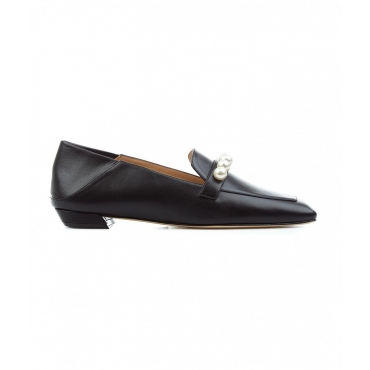 Loafers Mickee Pearls nero