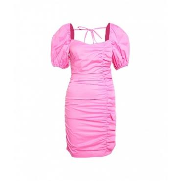 Mini abito con drappeggio pink