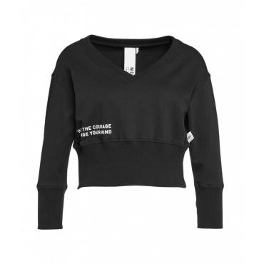 Cropped sweater nero