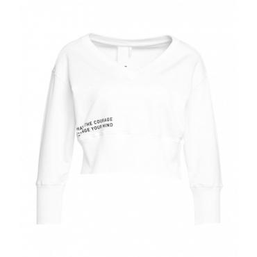 Cropped sweater bianco