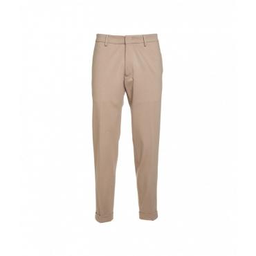 Pantaloni con piega tortora