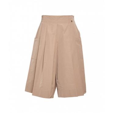 Gonna pantalone beige