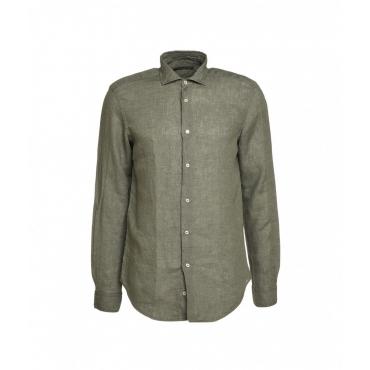 Camicia in lino verde