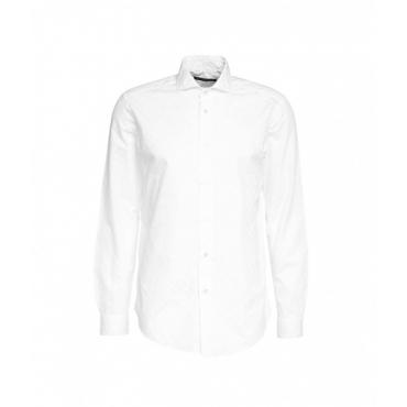 Camicia con motivo geometrico bianco