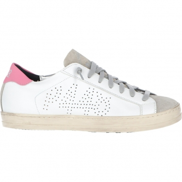 Scarpe P448 Donna John White Gpin Made In Italy WHITE PINK