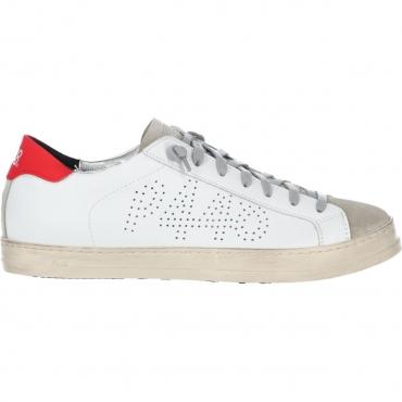 Scarpa P448 Uomo John Whi Gred Made In Italy Sneaker WHIGRED