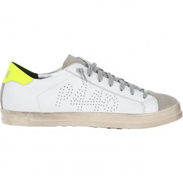 Scarpa P448 Uomo John Whi Gyel Made In Italy Sneaker WHIGYEL