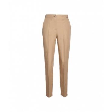 Pantalone in lino tencel beige