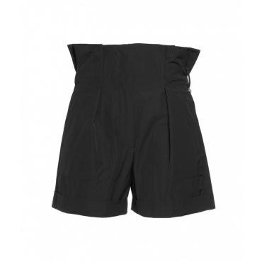 Paperbag shorts nero