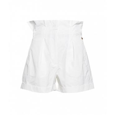 Paperbag shorts bianco
