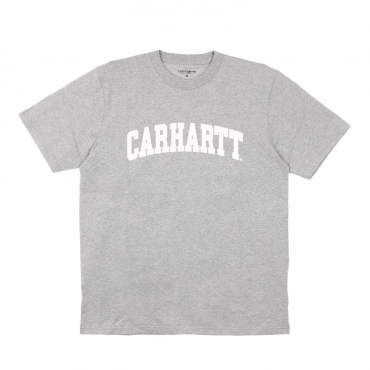 MAGLIETTA UNIVERSITY TEE GREY HEATHER/WHITE