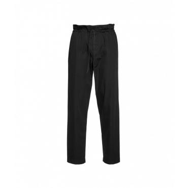 Pantalone in cotone nero