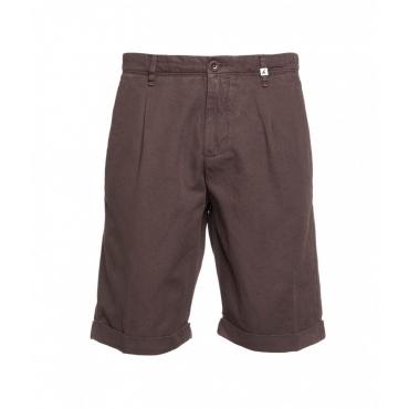 Shorts in misto cotone marrone