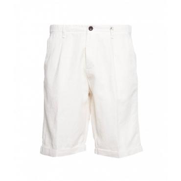 Shorts in misto cotone crema