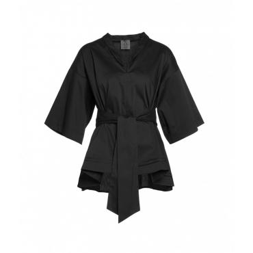 Camicia ampia nero