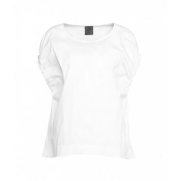 Camicia con maniche arricciate bianco