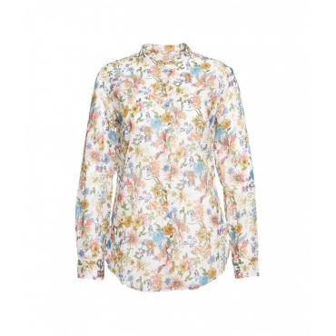 Blusa con stampa all-over multicolore