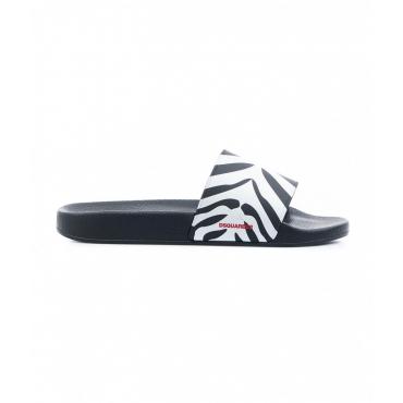 Slides Sporty Zebra nero