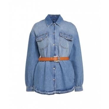 Hemd in denim blu