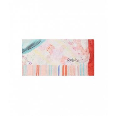 Sciarpa Love Land con stampa rosa chiaro
