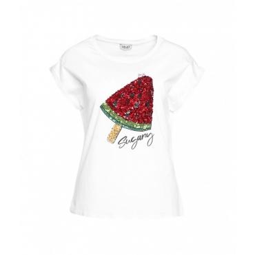 T-shirt exotic bianco