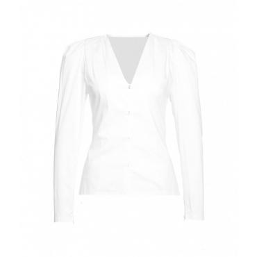 Camicetta con drappeggio bianco