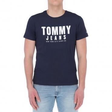 Tshirt Tommy Hilfiger Jeans Uomo Center Chest Tommy C87 TWILIGHTNAVY