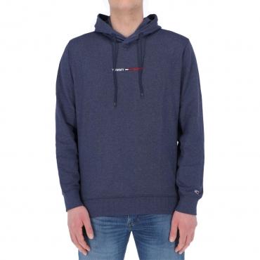 Felpa Tommy Hilfiger Jeans Uomo Straight Logo Hood DMN TWILIGHTNAVY