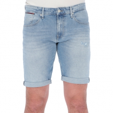Shorts Tommy Hilfiger Jeans Uomo Ronnie Relaxed Denim 1AB HUDSON LB