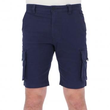 Bermuda Tommy Hilfiger Jeans Uomo Washed Caro Cotone C87 TWILIGHTNAVY