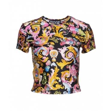 T-shirt lycra con stampa versailles nero