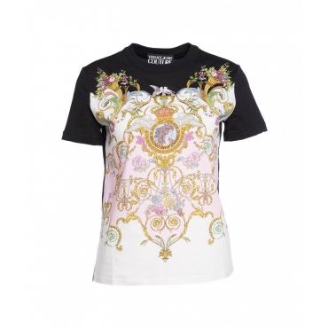T-shirt Sara con versailles print multicolore
