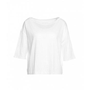 Shirt in misto lino bianco
