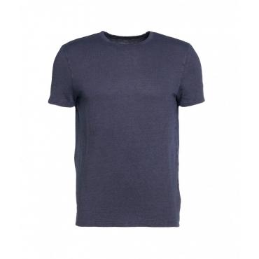 T-shirt in lino blu