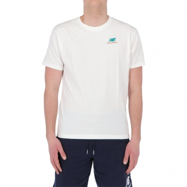 Tshirt New Balance Uomo Essential Embroidered Tee WT WHITE