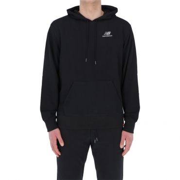 Felpa New Balance Uomo Essential Embroidered Hoodie BK BLACK