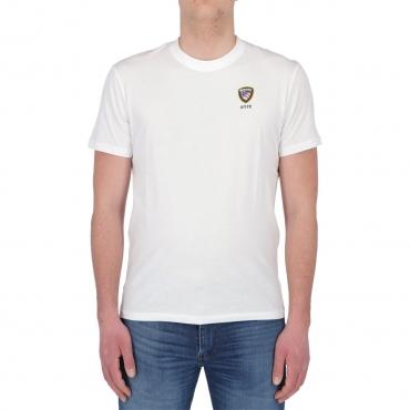 Tshirt Blauer Usa Uomo Cotone Stampa 100 BIANCO