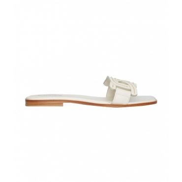 Sandali in pelle beige
