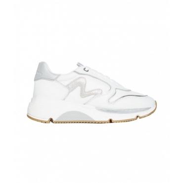 Sneakers con dettagli glitterati bianco