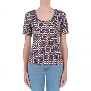 T-shirt Surkana Donna Giro Collo 00 BLACK