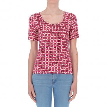 T-shirt Surkana Donna Giro Collo 32 FUCHSIA