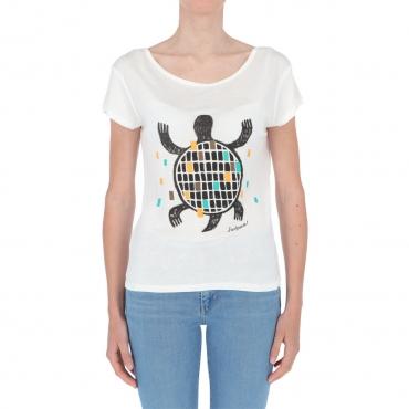 T-shirt Surkana Donna Fantasia Tartaruga 01 WHITE