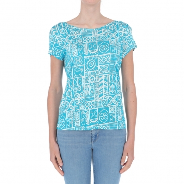 T-shirt Surkana Donna Fantasia Tartaruga 53 TURQUOISE