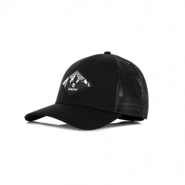CAPPELLINO VISIERA CURVA DIAMOND PATCH TRUCKER CAP BLACK