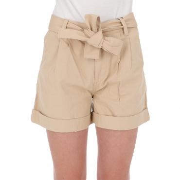 Shorts Tommy Hilfiger Donna Mom Belted Tjw AB1 SAHARA TAN