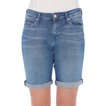 Short Tommy Hilfiger Jeans Donna Mid Rise Denim 1A5 TESS MID