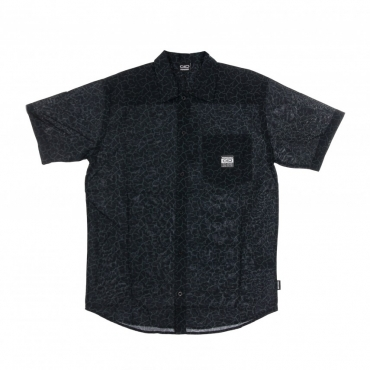 CAMICIA MANICA CORTA CRACK BEACH SHIRT BLACK