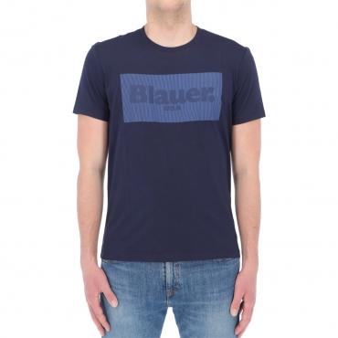 Tshirt Blauer Usa Uomo Cotone Stampa 802 ZAFFIROSCURO